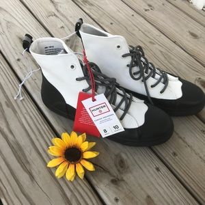 Hunter Canvas Sneaker Boots NWT